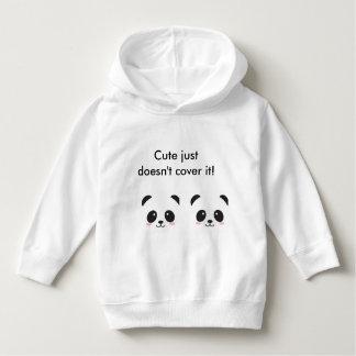 「かわいいどうしてもそれを」パンダのフード付きスウェットシャツ覆いません パーカ