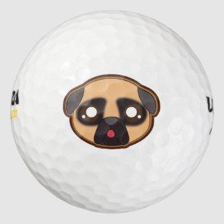かわいいのおもしろいなパグのゴルフ・ボール ゴルフボール