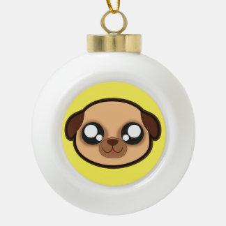 かわいいのおもしろい犬のクリスマスのオーナメント セラミックボールオーナメント