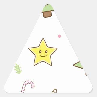 かわいいのかわいいクリスマスのデザイン 三角形シール