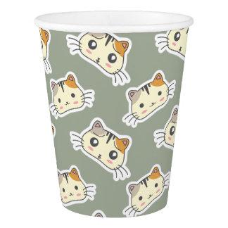 かわいいのかわいく小さい子猫の子ネコ猫 紙コップ