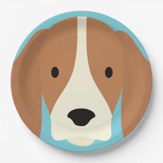 かわいいのかわいく小さい小犬 ペーパープレート