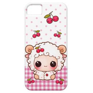 かわいいのさくらんぼを持つかわいいベビーのヒツジ iPhone SE/5/5s ケース