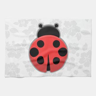 かわいいのてんとう虫 キッチンタオル