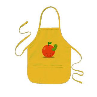 かわいいのりんごのエプロン 子供用エプロン