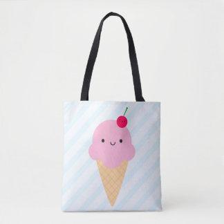 かわいいのアイスクリームコーン トートバッグ