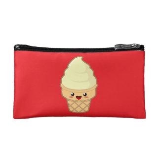 かわいいのアイスクリーム コスメティックバッグ