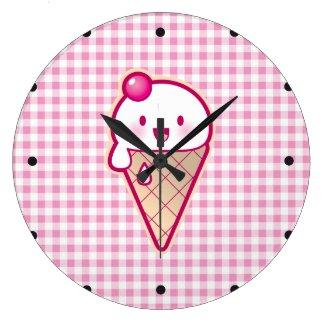 かわいいのアイスクリーム 時計