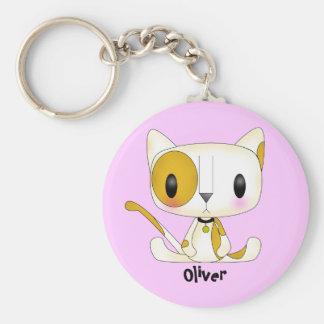 かわいいのオリバー猫Keychain キーホルダー