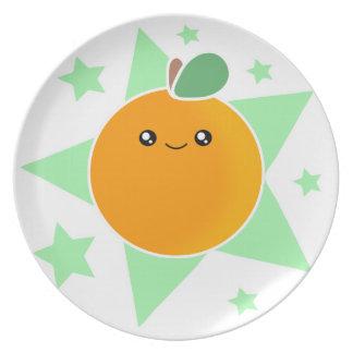 かわいいのオレンジフルーツのプレート プレート