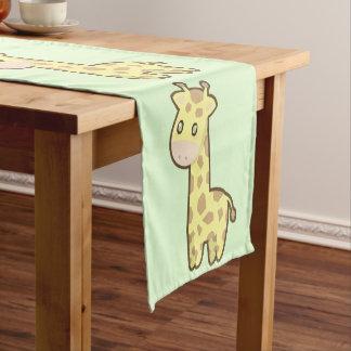 かわいいのキリン ショートテーブルランナー