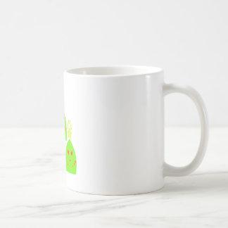 かわいいのクリスマスツリーの女性 コーヒーマグカップ