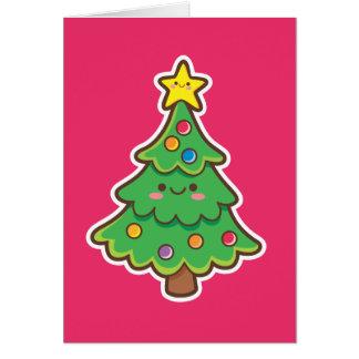かわいいのクリスマスツリー グリーティングカード