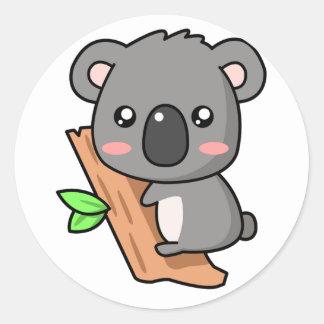 かわいいのコアラ ラウンドシール