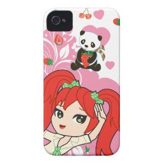 かわいいのココヤシ学校の女の子のチビ(小さくかわいく書いた感じ) 9700/9780 Case-Mate iPhone 4 ケース