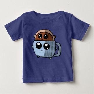 かわいいのコーヒーカップのワイシャツのかわいいドーナツ ベビーTシャツ