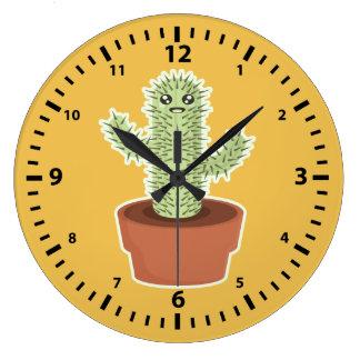 かわいいのサボテン ラージ壁時計