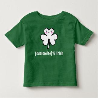 かわいいのセントパトリックの日のかわいいクローバーのTシャツ トドラーTシャツ
