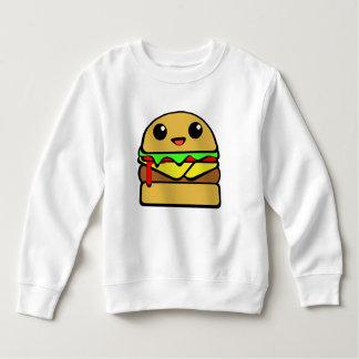 かわいいのチーズバーガーのキャラクター スウェットシャツ