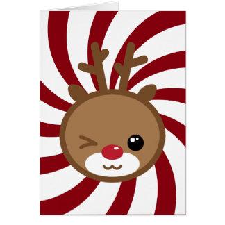 かわいいのトナカイの挨拶状 カード