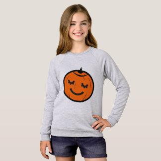 かわいいのハロウィンのカボチャ スウェットシャツ