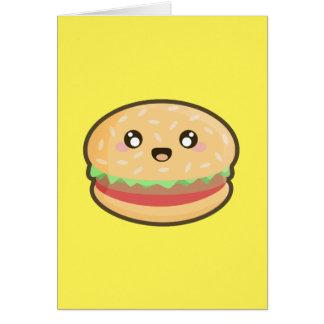 かわいいのハンバーガー カード