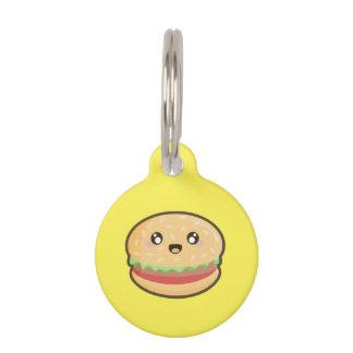 かわいいのハンバーガー ペット ネームタグ
