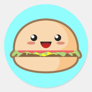 かわいいのハンバーガー ラウンドシール