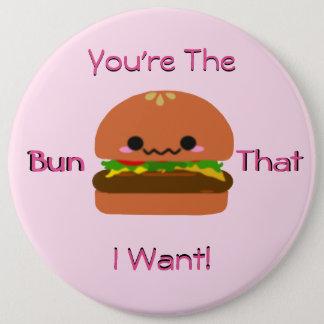 かわいいのハンバーガー 缶バッジ