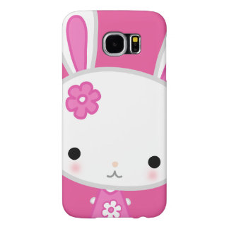 かわいいのバニーのSamsungのかわいいピンクの銀河系S6 Samsung Galaxy S6 ケース