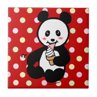 かわいいのパンダのアイスクリームの漫画 タイル
