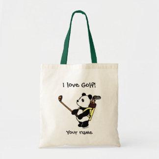 かわいいのパンダのゴルファー トートバッグ