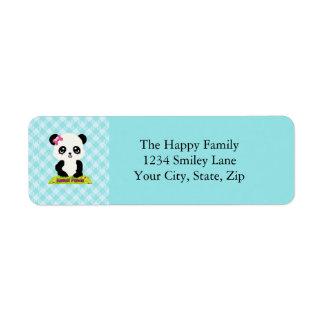 かわいいのパンダの宛名ラベル ラベル