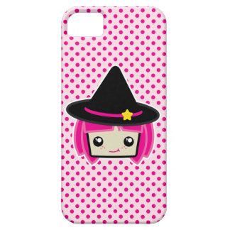 かわいいのピンクの髪の魔法使いのiPhoneの場合 iPhone SE/5/5s ケース