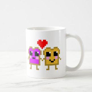 かわいいのピーナッツバターおよびゼリー コーヒーマグカップ