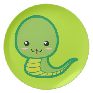 かわいいのヘビ プレート