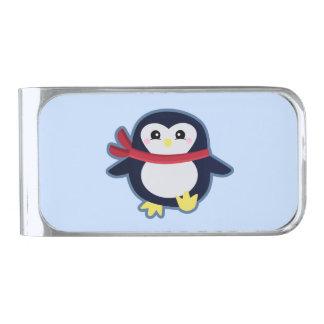 かわいいのペンギン シルバー マネークリップ