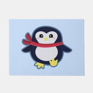かわいいのペンギン ドアマット