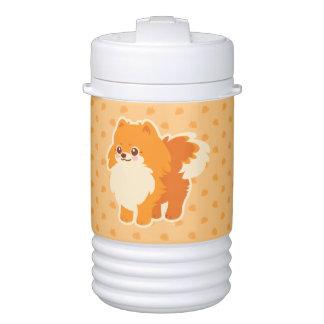 かわいいのポメラニア犬の漫画犬 ドリンククーラー