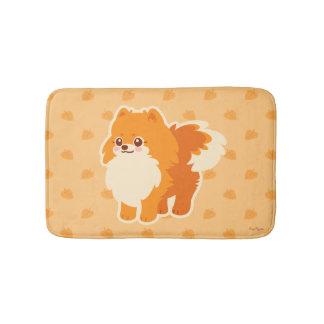 かわいいのポメラニア犬の漫画犬 バスマット