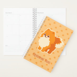 かわいいのポメラニア犬の漫画犬 プランナー手帳