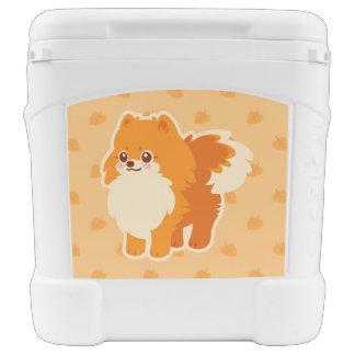 かわいいのポメラニア犬の漫画犬 ローラークーラー