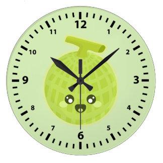 かわいいのメロン ラージ壁時計