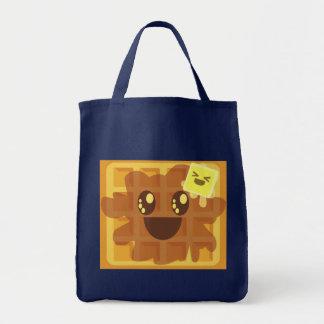 かわいいのワッフルのバターシロップの幸せな朝食 トートバッグ