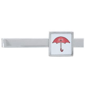 かわいいの傘 銀色 ネクタイピン