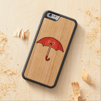 かわいいの傘 CarvedチェリーiPhone 6バンパーケース