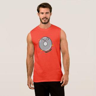 かわいいの円盤投げ選手のタンクトップ 袖なしシャツ