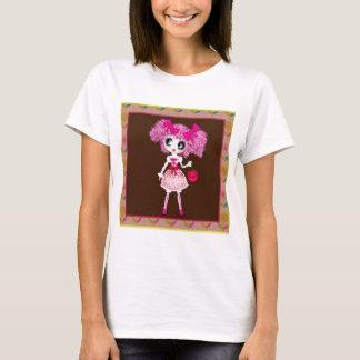 かわいいの女の子の小さいそう甘い Tシャツ