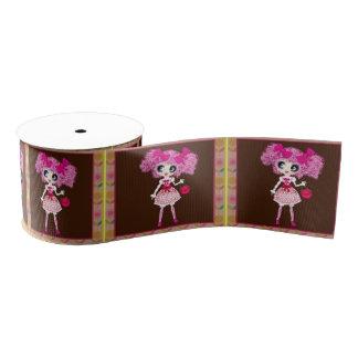 かわいいの女の子のPinkyPのsweetloliのピンク、bownの付属品 グログランリボン