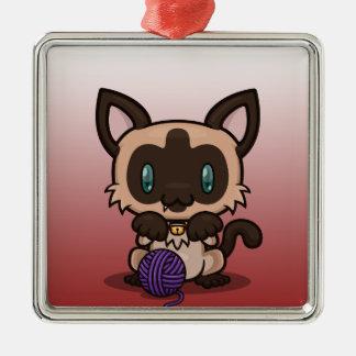 かわいいの子猫(シャム) メタルオーナメント